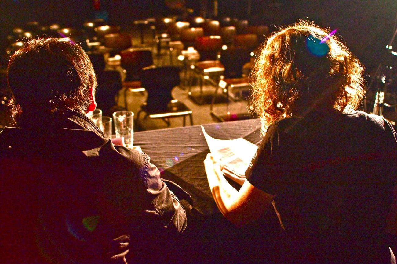Foto: David Ghione – Marianna Salzmann und Deniz Utlu
